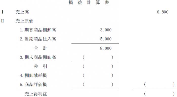 商品売買(簿記2級)